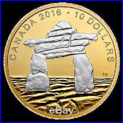 10 X lot NEW 2016 $10 Fine Silver Coins Iconic Canada Inukshuk
