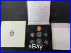 1867-1967 CANADA CENTENNIAL 1/2 Oz. GOLD & SILVER 7 COIN SET with OUTER BOX