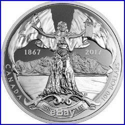 1867-2017 $100 10 oz Silver Canada Confederation Medals Historia Tua Epos Est