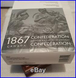 1867-2017 Canada150 10OZ Silver Confederation Medal Re-strike Antique Mintage200