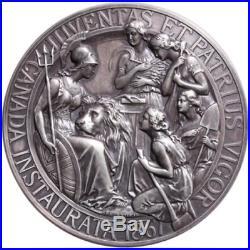 1867-2017 Confederation Medal Restrike 10OZ Silver Antique Canada150, Mintage200