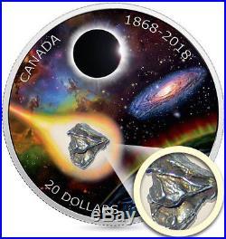 1868-2018 Meteorite 150th Royal Astronomical Society Canada $20 1OZ Silver Coin