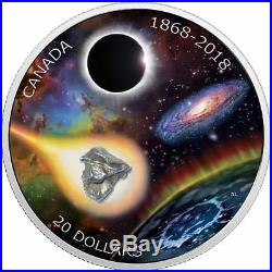 1868-2018 Royal Astronomical Society of Canada $20 Pure Silver Coin with Meteorite