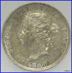 1888 Canada 25 Cents Silver Queen Victoria Quarter 25c Canadian