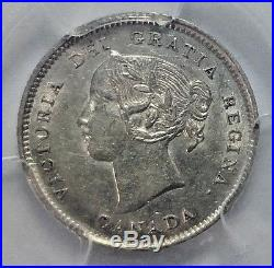 1891 Canada 5 Cents 8/8 PCGS MS-61 RARE