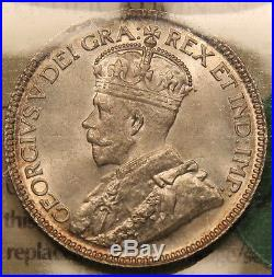 1933 Canada silver 25 cents ICCS MS-65 Amazing GEM Uncirculated