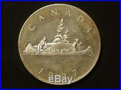 1937 Canada Cameo Silver $1 Dollar Edward VIII Very Low Mintage #G9857