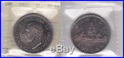 1937 ICCS SP64 $1 Mirror Canada one dollar silver SCARCE