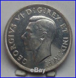 1945 Canada Silver Dollar Coin U N C