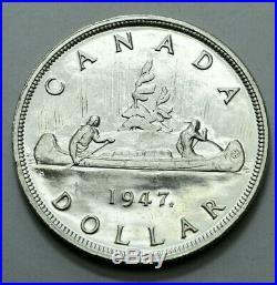1947 Canada Silver Maple Leaf-double HP $1 Dollar George VI Ultra Rare Key Date