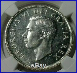 1948 Canada Silver Dollar KEY DATE NGC MS-62 RARE