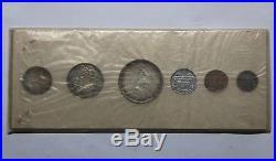 1952 Canada Proof Like Set 6 Coins Original White Cardboard Holder Silver Unc