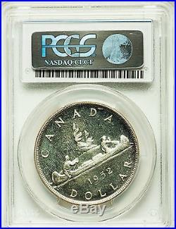 1952 NWL Silver Dollar PCGS PL-66 Gorgeous GEM+ Scarce Variety Canada $1.00