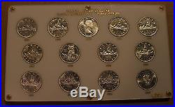 1953-1964 Canada Silver Dollars Queen Elizabeth II 1st Series COMPLETE SET 13pcs