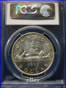 1953 Canada Silver Dollar $1 PCGS MS65 STRAP ELIZABETH II Dollar