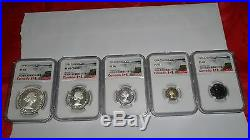1954 Canada Silver Coin Collection. NGC graded PL-65 PL-66 PL-67