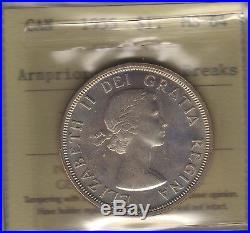 1955 Arnprior WDB Canada Silver Dollar Coin. ICCS MS-64 ARN UNC
