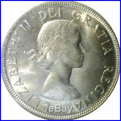 1955 Canada Silver $1 One Dollar Coin -Graded Mint MS-65 by ICCS- Collectible
