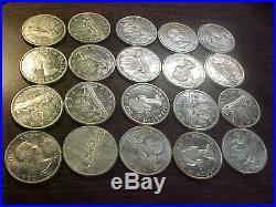 1963 Canada Silver Dollar Choice BU Roll, Original 20 Coins Canadian. 800 Silver