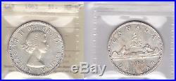1963 ICCS MS65 $1 Canada one dollar silver