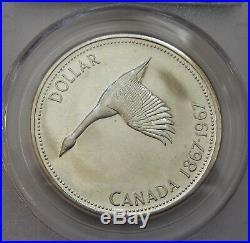 1967 Canada Diving Goose Silver Dollar PCGS PL65 Rare GEM
