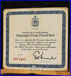 1976 CANADA Montreal OLYMPIC. 925 STERLING SILVER Coin Set with C. O. A