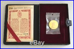 1977 Canada Elizabeth II Silver Jubilee $100 Gold Proof Coin In Moroccan Leather