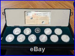 1985-87 Canada 10 Coin Calgary Olympics Silver Set