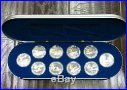 1990 Canada 1 Oz. 925 Fine Silver $20 Powered Flight In Canada Proof World Coins