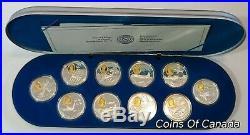 1995-1999 SILVER Flight In Canada Aviation 10 Coin Set Series 2 #coinsofcanada