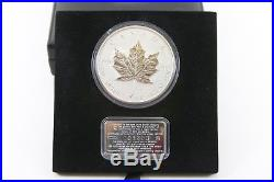 1998 CANADA $50 -10 oz. 99.99% 10th anniversary Silver Maple Leaf Silver COA