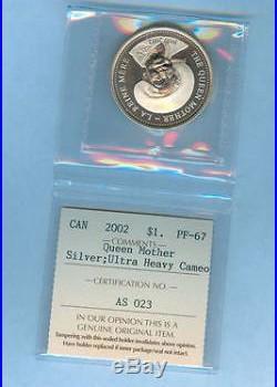 2002 Canada $1 Silver Queen Mother