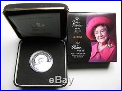 2002 Proof $1 Queen Mother Elizabeth. 925 Silver Dollar Canada
