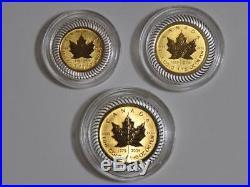2004 Canada Maple Leaf 25th Anniversary 6-Coin Set Bimetallic Gold & Silver