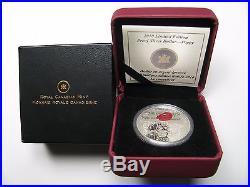 2010 Proof $1 The Poppy red enamel Canada. 925 Silver Dollar