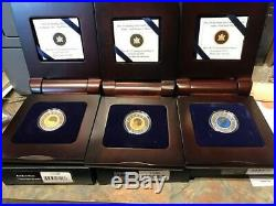 2011-2012 Canada $5 RCM Full Moon Sterling Silver & Niobium 3-Coin Set