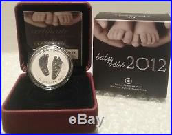 2012 Baby Gift Welcome to the World Pure Silver $10 1/2OZ Coin Canada Baby Feet