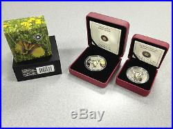 2013 Butterflies of Canada Tiger Swallowtail SET $20 Silver AND 50-Cent Coins