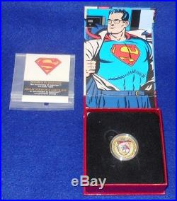 2013 Canada Superman 75th Anniv. Early Years. $75 (14kt) Gold Coin. Ogp