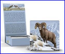 2014 $100 Canada Bighorn Sheep, Fine. 9999 Silver Coin (ogp/coa)