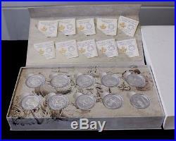 2014 RCM $15 Exploring Canada Silver Coin Complete Set with Box / COA