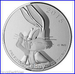 2015 CANADA LOONEY TUNES $20 for $20 #17 BUGS BUNNY. 9999 Silver Coin IN STOCK