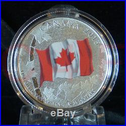 2015 Canada 50th Anniversary Canadian Flag $25 Silver Coloured Coin $20 for $20