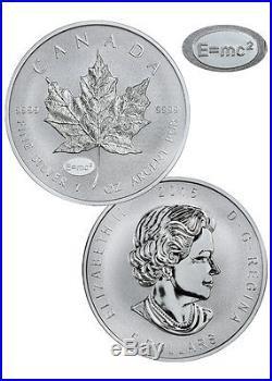 2015 Canada $5 1 Oz Silver Maple Leaf with Einstein E=mc2 Privy Rev Proof SKU36454