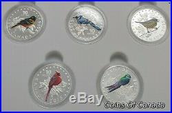 2015 Colourful Songbirds Of Canada Colour 5 Coin Silver Proof Set #coinsofcanada