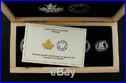 2015 Royal Canada Mint Silver Fractional Set Bald Eagle 4 Coins Total Coa Inc