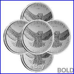 2015 Silver 1 oz Canada Birds of Prey Great Horned Owl (5 Coins)