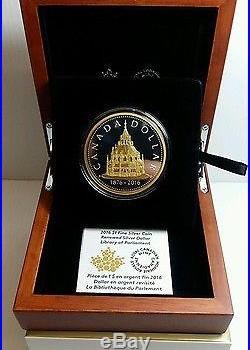 2016 CANADA $1 FINE SILVER COIN Library of Parliament 99.99%MASTERCLUB