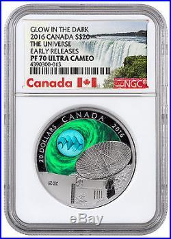 2016 Canada 1 Oz Silver Universe Glow Dark Silver Fume NGC PF70 UC ER SKU41171