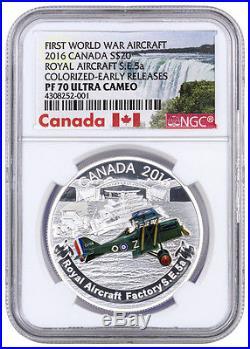 2016 Canada $20 1 Oz Silver Aircraft 1st WW Factory S. E. NGC PF70 UC ER SKU39076